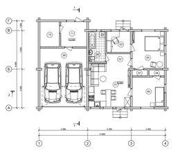 планировочное решение первого этажа 9 на 13 м, - фотография