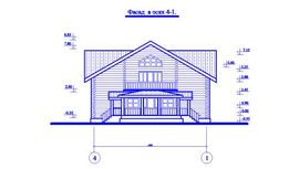 фасад аналогичного одноэтажного коттеджа с мансардой