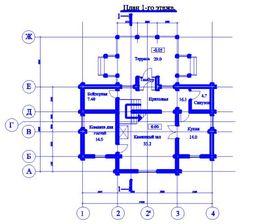 планировка 1-го этажа 13 на 14 м, - изображение