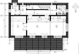 план первого этажа 8 на 11 м, с верандой - фото