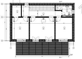 мансардный этаж коттеджа из бревна, с верандой