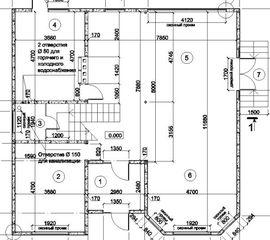 планировка первого этажа 12 на 12 м, - схема