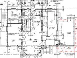 планировочное решение 1-го этажа 14 на 14 м, с верандой - изображение