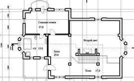 планировка первого этажа 15 на 16 м, - фотография