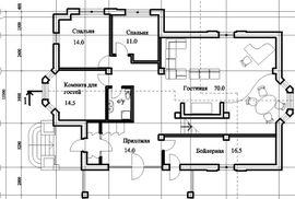 просмотр планировки 2-го этажа рабочего проекта