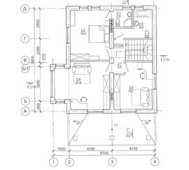 просмотр планировки второго этажа рабочего проекта