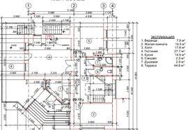 планировочное решение 1-го этажа 11 на 13 м, - фотография