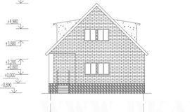 фото фасада подобного одноэтажного дома с мансардой