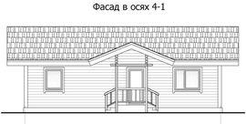 фасад такого же одноэтажного дома