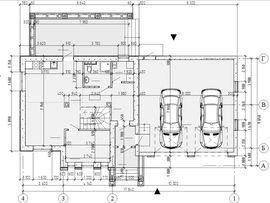 планировочное решение первого этажа 9 на 18 м, с верандой - фото