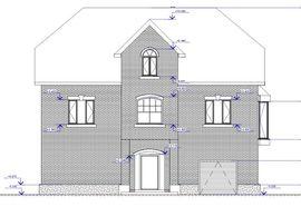 фасад подобного двухэтажного дома с мансардой