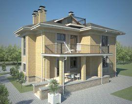 фасад аналогичного двухэтажного коттеджа