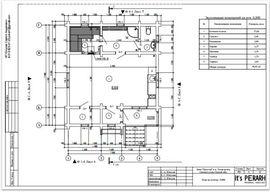 планировка первого этажа 7 на 8 м, с верандой - схема