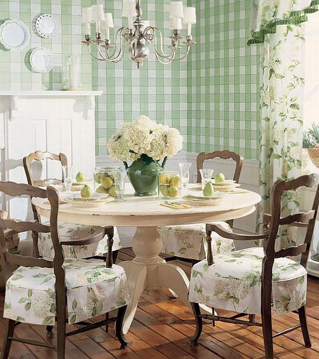 Интерьер столовой в стиле шебби-шик