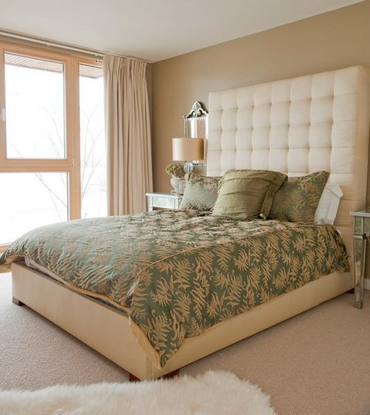 дизайн спальни в английском стиле пастельные тона