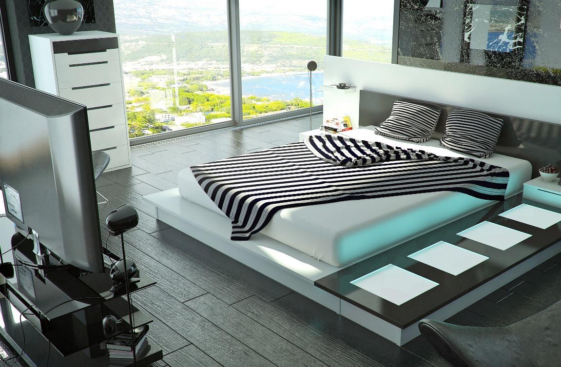Дизайн хай тек спальни