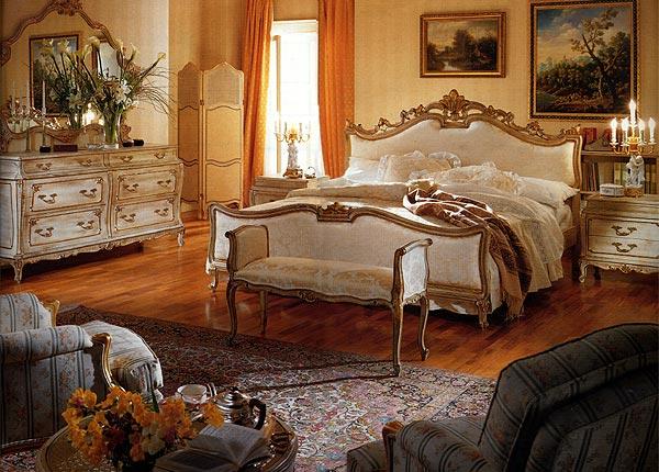 богатая спальня в классическом стиле фото