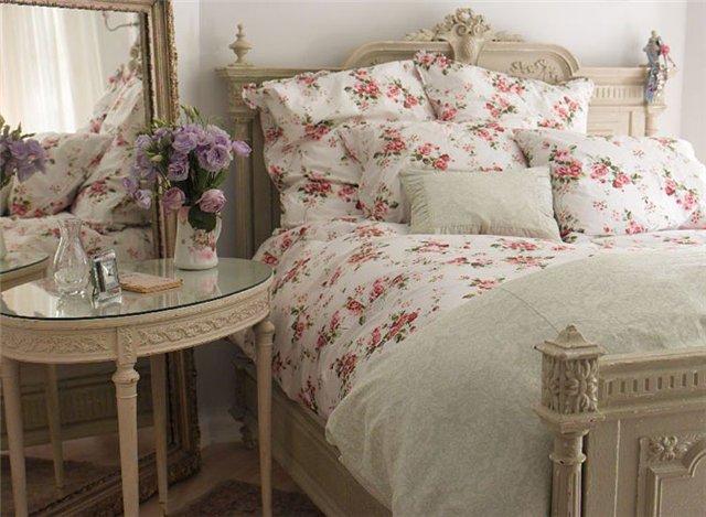 текстиль для спальни шеби-шик
