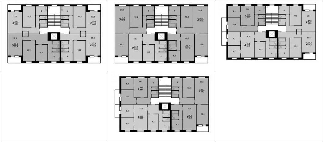 Серия дома ii-49 - планировка с размерами.