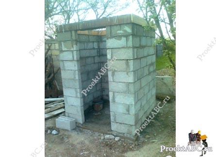 Туалеты своими руками из блока 875