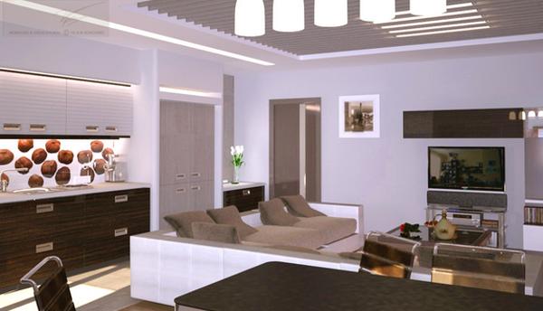 дизайн зала доме