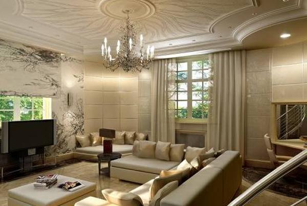 дизайн зала в одноэтажном доме
