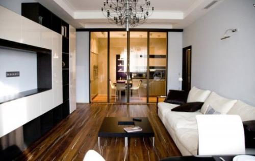 зал в маленькой квартире