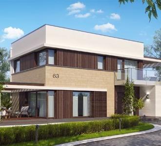 """BIM проект двухэтажного дома с гаражом и террасой, в стиле Hi-Tec """"Millennium House"""""""