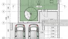 """BIM проект двухэтажного дома с парковкой на две машины """"Black Stone House"""""""