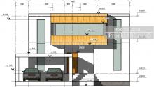 """Двухэтажный дом по BIM технологии """"Double Black Stone House"""""""
