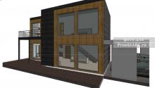 """Проект на строительство двухэтажного жилого дома с парковкой на три машины """"Big Santiago House"""""""