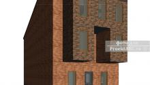 """Жилой трехэтажный дом на 3 семьи в стиле Hi-Tec """"The Three Families"""""""