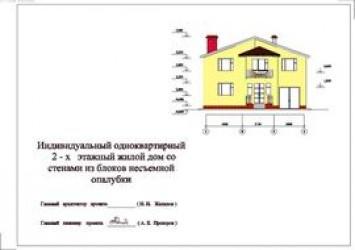 Рабочий проект двухэтажного коттеджа из кирпича 12 на 15