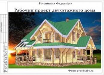 Проект бревенчатого одноэтажного коттеджа c мансардой 14 на 16