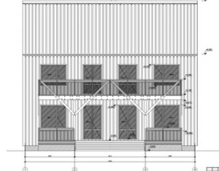 Рабочий проект каркасного двухэтажного дома Лаута 12 на 7