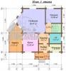 #56.  планировка дома 10 на 12 из бруса