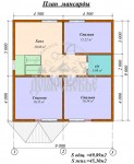 #57. Планировка дома 10 на 12 метров