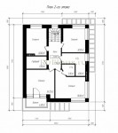 #60. планировка двухэтажного дома 10 на 12