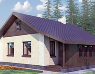 Кирпичный одноэтажный дом 9 на 7 - скачать рабочий проект