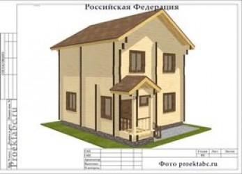 Дом из бруса 7 на 7 метров