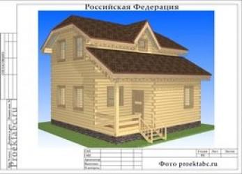 Проект дома из бруса 8 на 8 метров