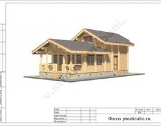 Проект брусового двухэтажного коттеджа 6 на 14