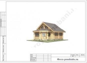 Проект бревенчатого двухэтажного коттеджа 9 на 11