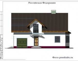 Проект каркасного дома 6 на 8 с мансардой