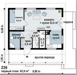 #17. План дома 6х9 метров фото чертежей