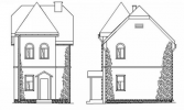 #6. Планировка двухэтажного дома 6 на 6 фото