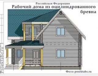 Дом из бревна 9 на 9 метров