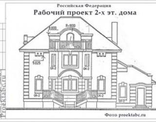 Проект дакхэтажного коттеджа из керамазитобетона дома 12 на 15