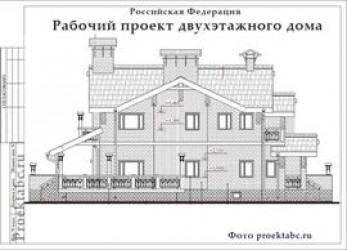 Проект кирпичного двухэтажного дома 11 на 11