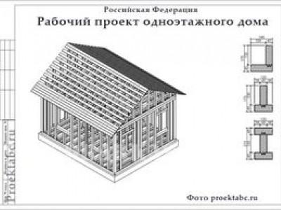 Проект каркасного дома 6 на 6 м